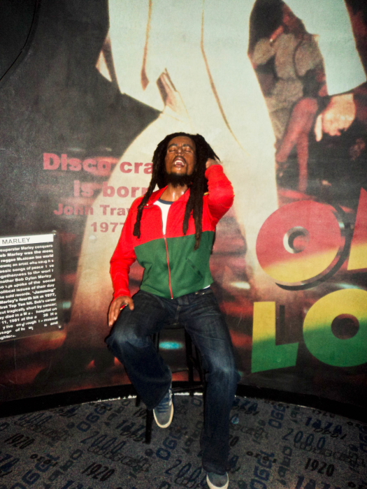 Wax model of Bob Marley in Madame Tussauds Wax Museum, New York