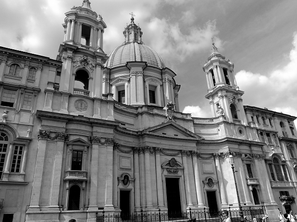Sant Agnese in Agone church in Piazza Navona, Rome, Italy