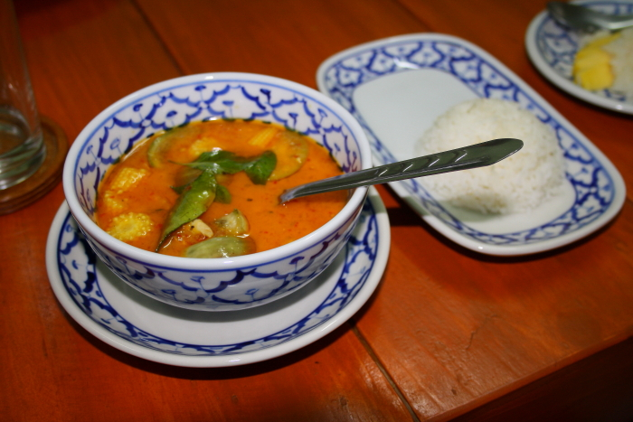 Thai Red Curry at a cooking class in Chiang Mai, Thailand