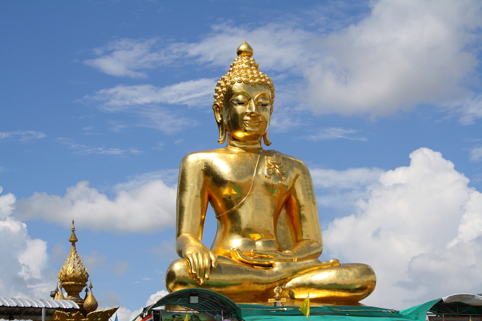 Golden Buddha at the Golden Triangle in Thailand