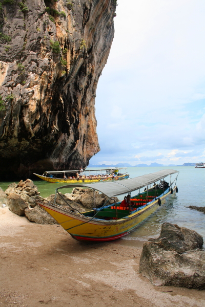 Long tail boat on James Bond Island, Thailand