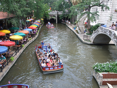 'View of San Antonio River walk in Texas