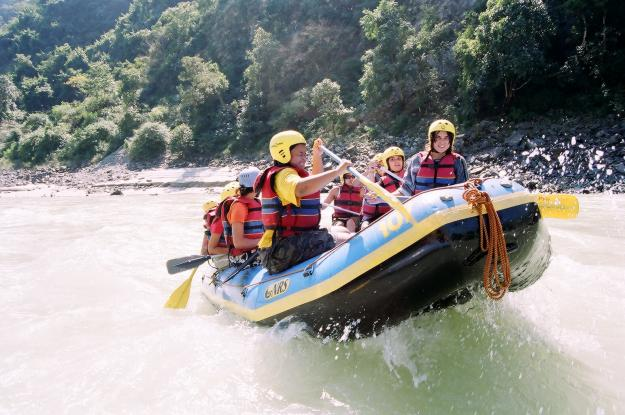 White water rafting in Rishikesh, India