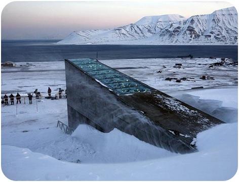 Svalbard Global Seed Vault in Spitsbergen, Norway