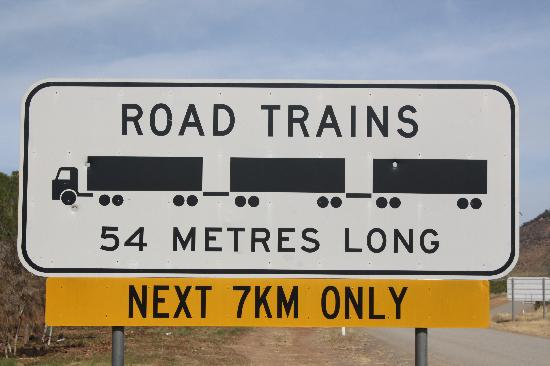 Gibb River Road road train sign