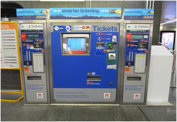 Train ticket machine in Europe