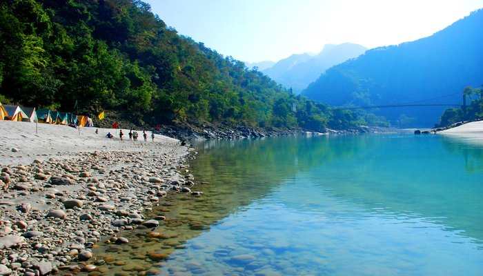 Camping in Rishikesh, India