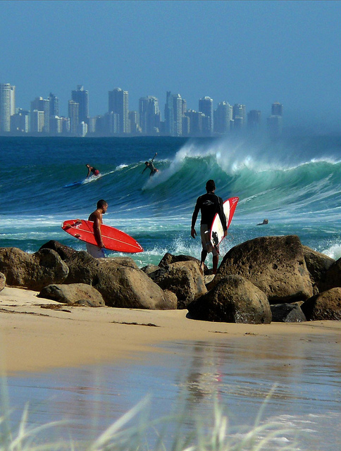 Surfing, Gold Coast