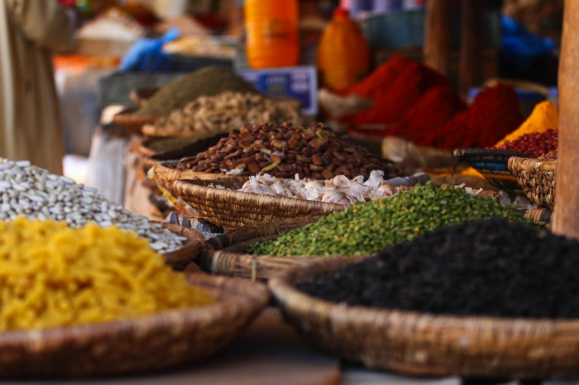 Spices for sale in Zanzibar