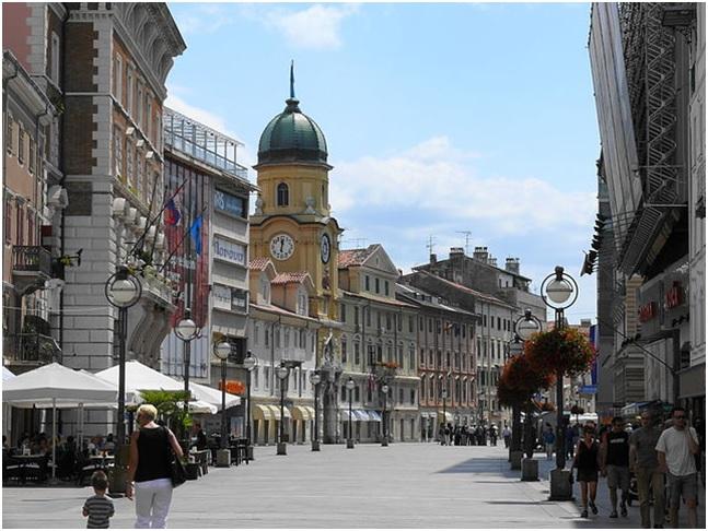 Street in Rijeka, Croatia