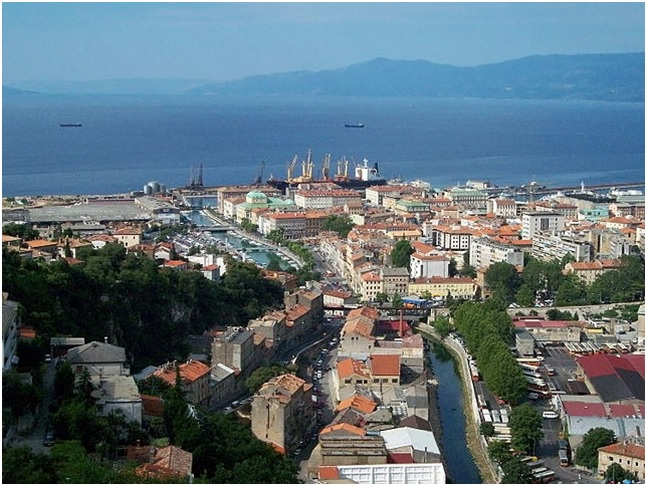 View of Rijeka, Croatia